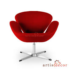 arne jacobson style egg chair in red wool artis décor