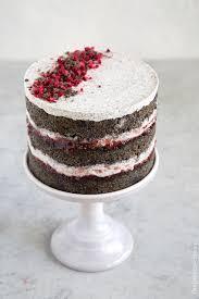 raspberry black sesame cake the little epicurean