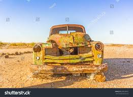 rusty car old rusty car desert southern namibia stock photo 298535816