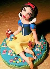 Cold Porcelain Princess Inspired Cold Porcelain Snow White Cake