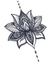 tribal lotus flower drawing clipartxtras