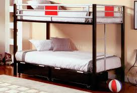 Metal Bunk Beds Twin Over Twin by Black Metal Base Twin Over Twin Modern Bunk Bed