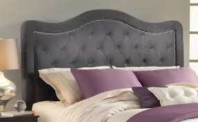 hillsdale trieste tufted upholstered headboard dove gray linen