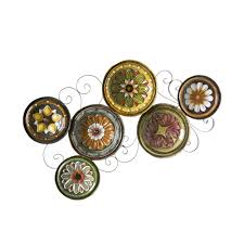 target wall decor metal fancy decorative plates for wall art 32 in target metal wall art