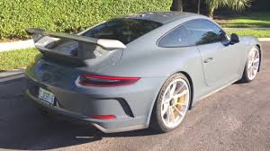 porsche graphite blue gt3 991 2 porsche gt3 in idle youtube