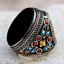 big stone rings images Shop carved stone rings on wanelo jpg