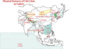 asia map with labels ss7g9 the student will locate selected features in southern and