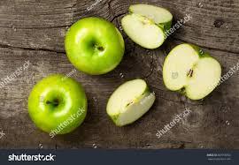 Gray Green Ripe Green Apples Apple Slices On Stock Photo 387918766 Shutterstock
