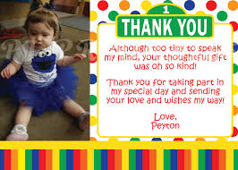 sesame street thank you cards primary colors custom digital