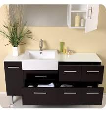 Bathroom Vanity And Mirror Fresca Serio Espresso Modern Bathroom Vanity With Mirror