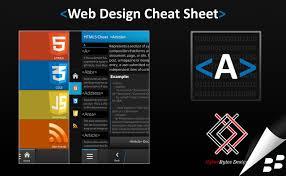design this home level cheats web design cheat sheet 2 0 brings slick html5 editor to blackberry 10