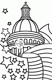 independence day of the united states coloring page for kids