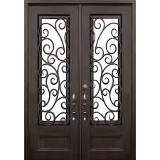 Front Door Painted by Allure Iron Doors U0026 Windows 72 In X 96 In Lauderdale Dark Bronze