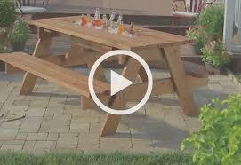 How To Build Outdoor Furniture by How To Build A Picnic Table With Built In Cooler At The Home Depot