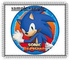 sonic the hedgehog cake topper sonic the hedgehog boom edible cake topper frosting