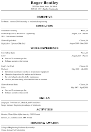 engineering resume for internship freshman resume internship