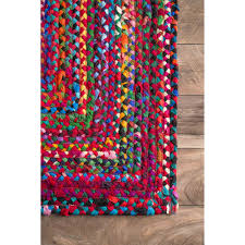 8 Round Braided Rugs by Nuloom Hand Braided Tammara Area Rug Or Runner Walmart Com