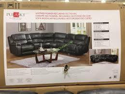 Pulaski Sectional Sofa Costco 1049291 Pulaski Furniture Leather Power Reclining Sectional