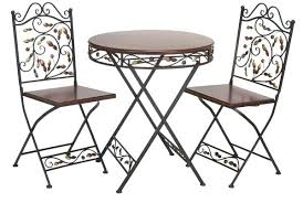 Wrought Iron Mesh Patio Furniture by Vintage Cast Iron Patio Table And Chairs Round Metal Patio Table