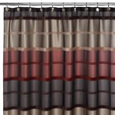 Rust Colored Curtains 42 Best Brown Shower Curtain Images On Pinterest Fabric Shower