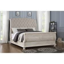 Tufted Sleigh Bed King King Size Sleigh Bed For Less Overstock