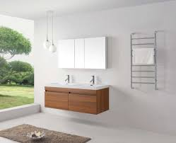 Wall Mounted Vanity Sink Abersoch 55 Inch Wall Mounted Double Sink Bathroom Vanity White Finish