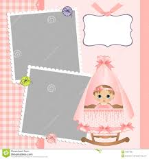template for baby s card stock photo image 19507900
