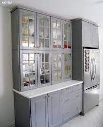 ikea glass kitchen wall cabinets how to stack ikea sektion cabinets as pantry