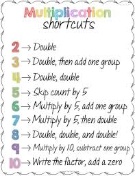 teaching multiplication shortcuts multiplication students and