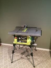 10 In Table Saw Ryobi 10 U201d Portable Table Saw With Quick Stand Rts21g Tool Box