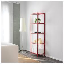 Tall Narrow Shelves by Tall Narrow Red Metal Shelf On Gray Wood Floor Feat Modern Floor