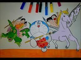 doraemon friends coloring book learn color kids