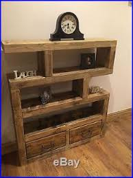 Small Rustic Bookcase Wooden Shelving Unit Chunky