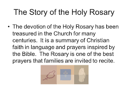 holy devotion the holy rosary the story of the holy rosary the devotion of the