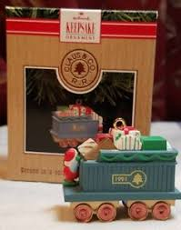 hallmark keepsake ornament claus company gift car locomotive