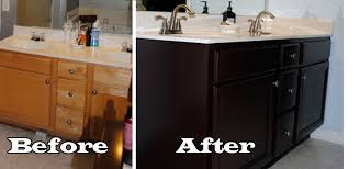 How To Paint A Bathroom Vanity Painting Laminate Bathroom Cabinets Before And After Bedroom And