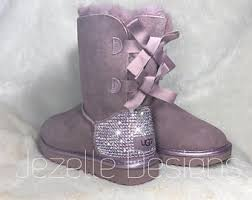 light purple bailey bow uggs bedazzled uggs etsy