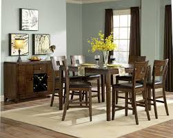 engaging image of dining room decoration using square cherry wood