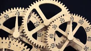 wooden gear clock genesis design by clayton boyer youtube