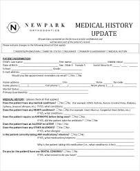 23 images of dental medical history update form template infovia net