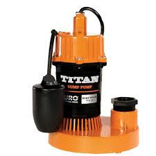 titan basement submersible sump pump 1 3 hp tethered float