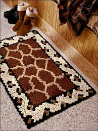 ravelry giraffe and leopard print rug pattern by susan lowman
