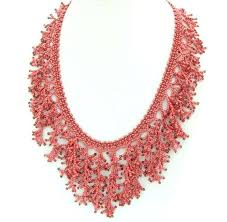 coral necklace images Red coral necklace fringe necklace fringe statement etsy jpg
