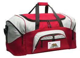 California Flag Horse California Flag Duffle Bag Or California Gym Bags Red