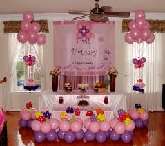 Birthday Party Decorations In Home 1st Birthday Party Decorations At Home Simple Home Design Ideas