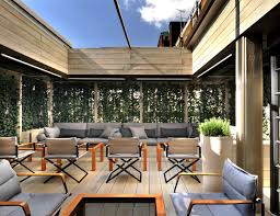 the exclusive outdoor rooftop terrace of mark u0027s bar at belgraves