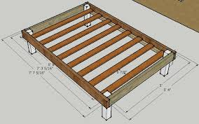 Diy Platform Bed Frame Full simple platform bed frame plans furniture pinterest bed