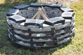 Stone Firepit by Image Gallery Natural Stone Fire Pit