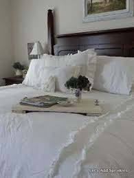 she has this bedding simply shabby chic heirloom white comforter