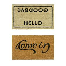 Rubber Cal Inc Wipe Your Rubber Cal Inc 2 Piece Welcome Go Away Doormat Set U0026 Reviews